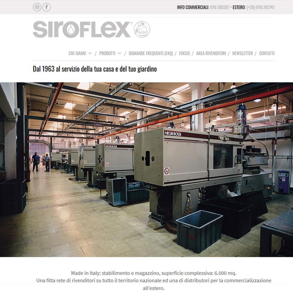 Una schermata del sito Siroflex: www.siroflex.info