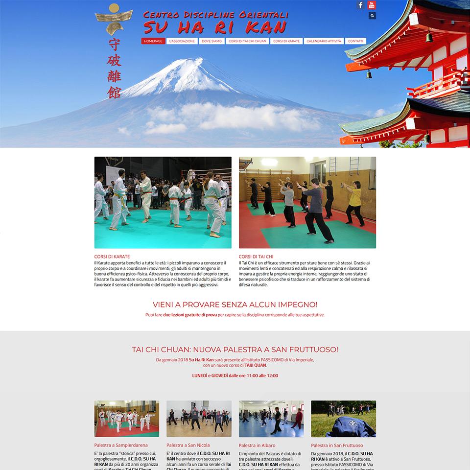 Centro Discipline Orientali Su Ha Ri Kan - Schermata del sito