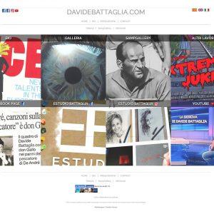 Davide Battaglia, Pittore - Homepage del sito