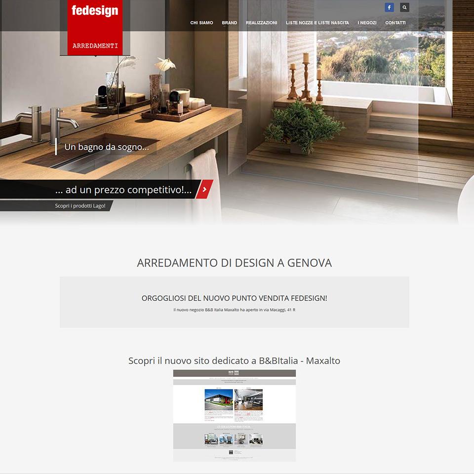 Fedesign - Schermata del sito