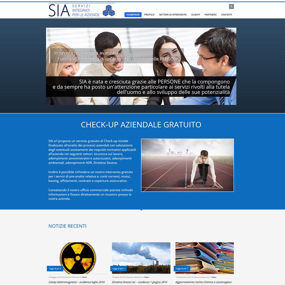 SIA Servizi Integrati alle Aziende - Schermata del sito