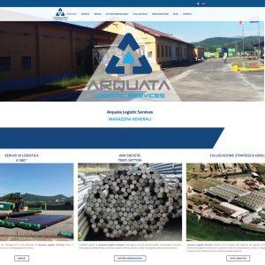 Scherma del sito di Arquata Logistic Services - www.arquatalogisticservices.com