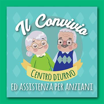"""Logo del centro diurno ed assistenza per anziani """"Il Convivio"""""""