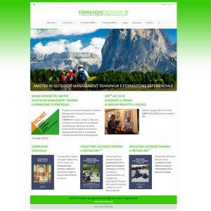 Schermata dell'homepage del sito formazioneoutdoor.it