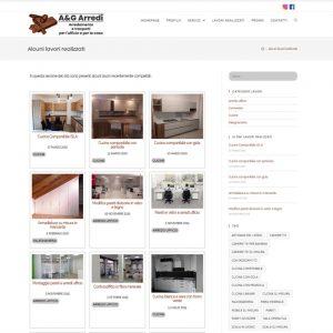 Schermata del sito AeGArredi.it