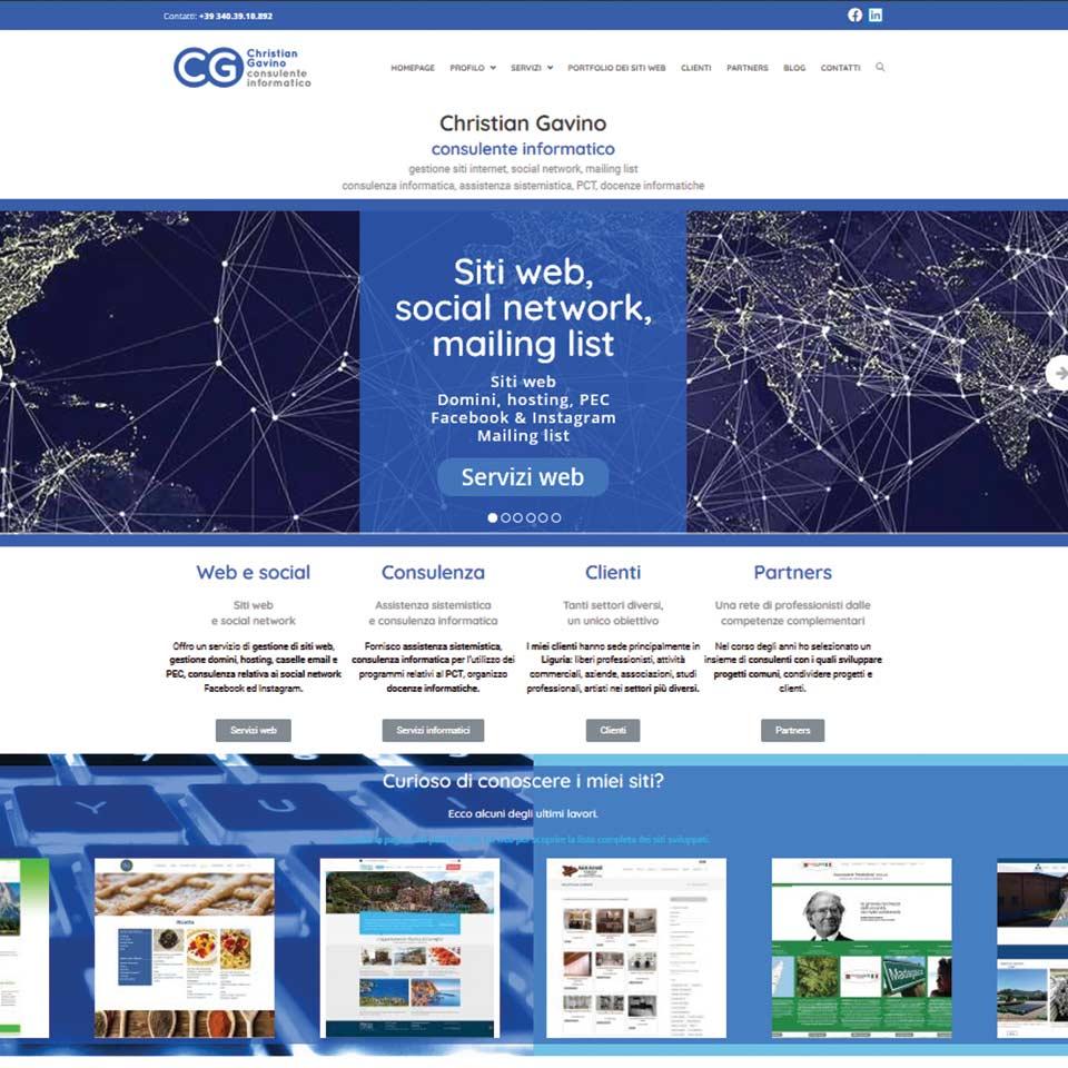 Schermata del sito web www.christiangavino.it