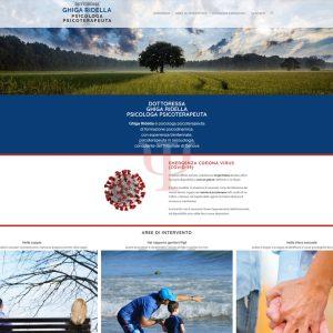 Schermata del sito della Dottoressa Ghiga Ridella - psicoterapeutaghigaridella.it