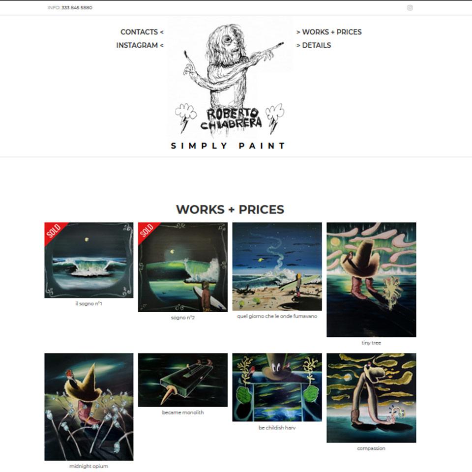 Schermata del sito RobertoChiabrera.it, il sito di Roberto Chiabrera