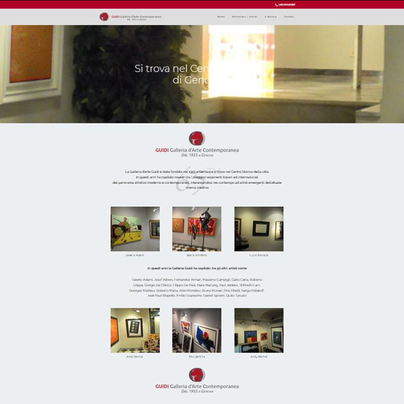 Schermata del sito della Galleria Guidi - www.galleriaguidi.com