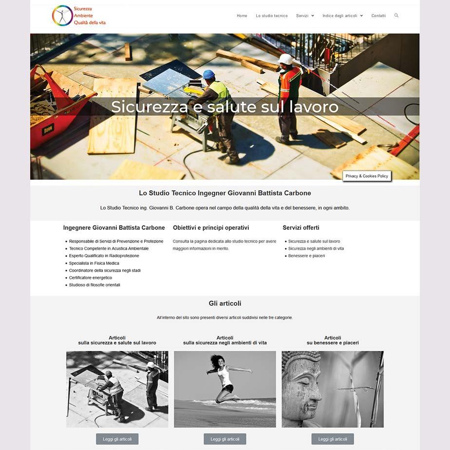 Miniatura del sito web sicurvita.it - Studio Tecnico Ingegner Giovanni Battista Carbone