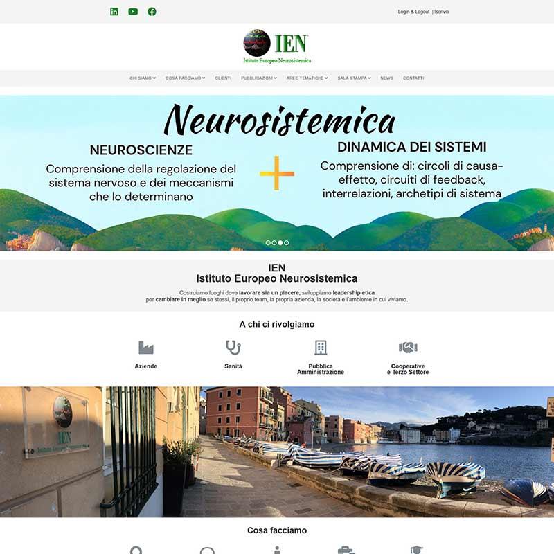 Preview della scheda del sito www.ienonline.org, IEN Istituto Europeo Neurosistemica
