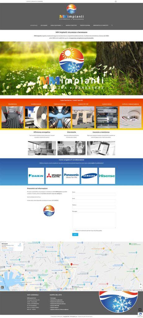 Schermata del sito mmimpianti.info versione 2021