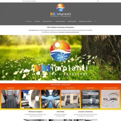 On line con il nuovo sito di MM Impianti!