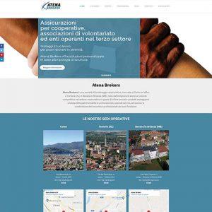 Screenshot del sito web di Atena Brokers assicurazioni a Como, Tortona e Besana in Brianza