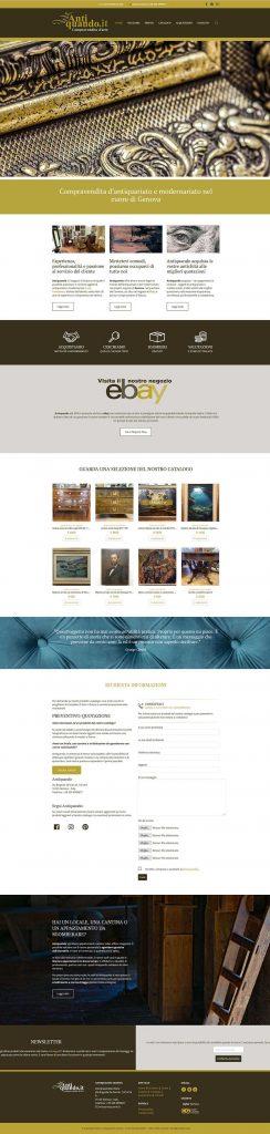 Schermata della homepage del sito Antiquando.it di Luca Centanaro - Antiquando - Antiquariato e modernariato